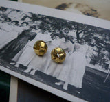 Tiny Brass Knot Studs - House of Angelica