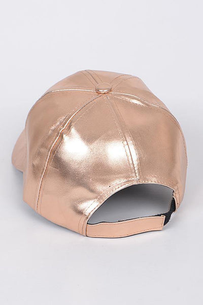 Dalia Faux Leather Cap