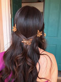 Butterfly Hair Clips - Gold - House of Angelica