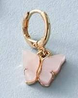 Butterfly Earring - Pink/Gold