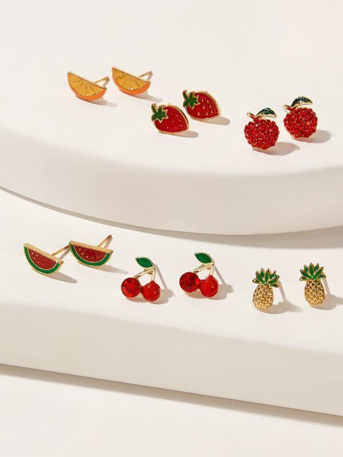 Fruit Shaped Stud Earrings