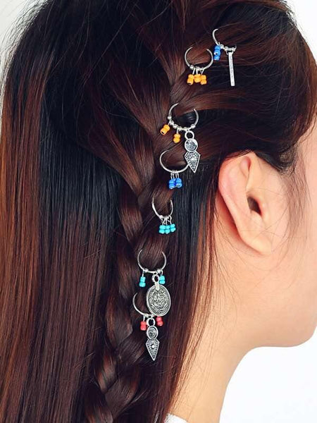 Hair Rings - Assorted - 4 per pack