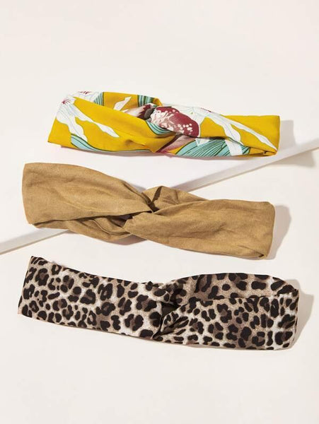 Headbands - Leopard, Yellow Floral, Tan - House of Angelica