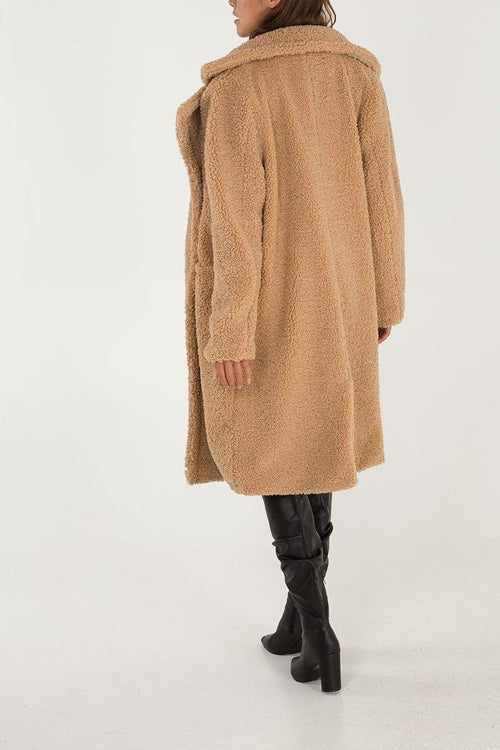 Thalia Teddy Coat - House of Angelica