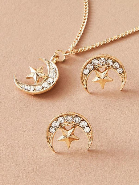 Necklace - Moon And Star Pendant