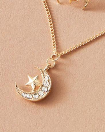 Necklace - Moon And Star Pendant - House of Angelica
