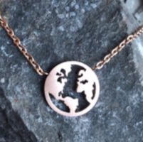 Necklace - World - Rose Gold - House of Angelica
