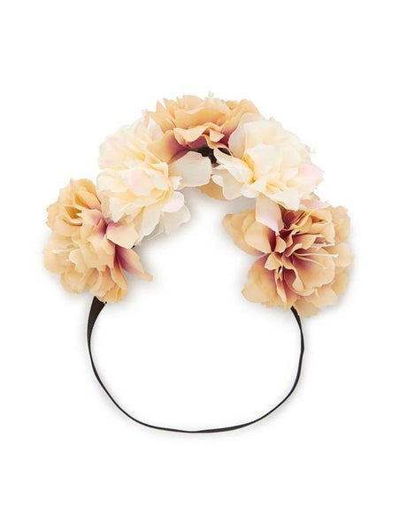 Floral Headband - Peach - House of Angelica