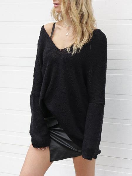 Eclipse Double V Knit Tunic