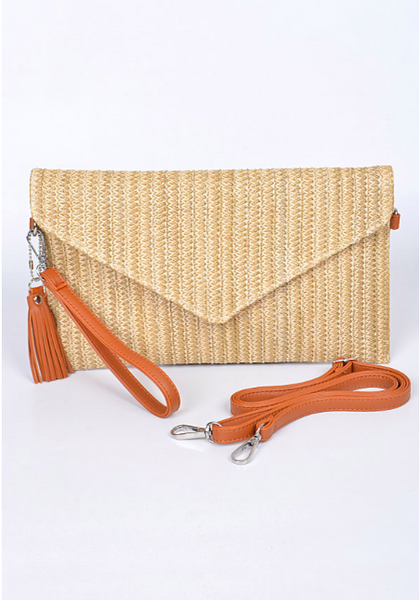 Lily Woven Clutch
