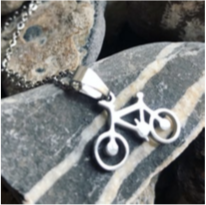 Necklace - Bicycle - Silver