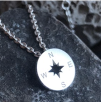 Necklace - Compass - Silver - House of Angelica
