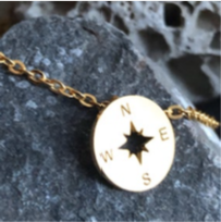 Necklace - Compass - Gold - House of Angelica