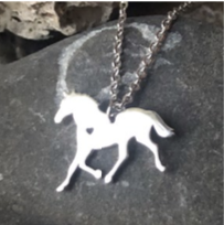 Necklace - Horse - Silver