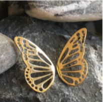 Earring - Butterfly Wings - Gold