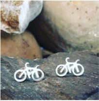 Earring - Bicycles - Silver
