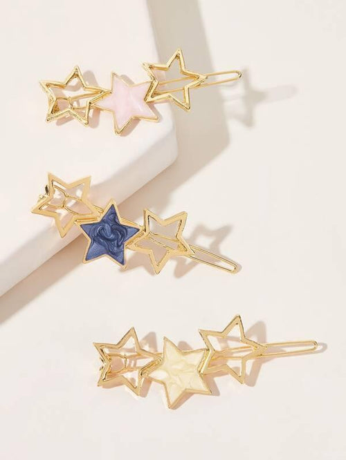 Star Hair Barrettes - 3 colors available - House of Angelica