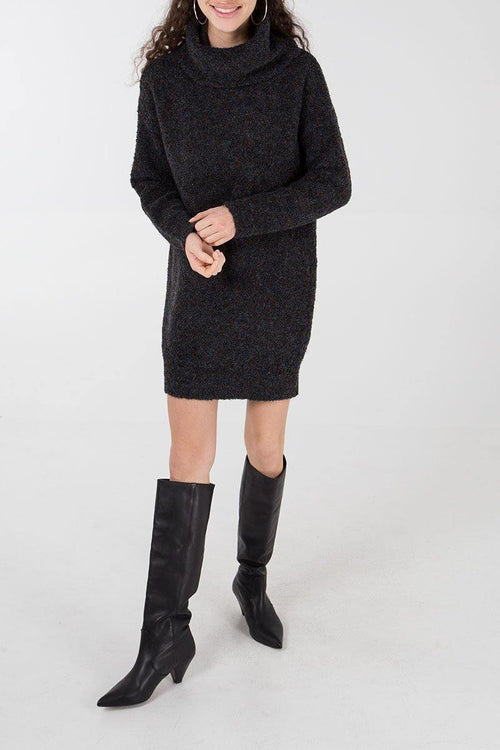 Olivia Jumper Dress- Black - House of Angelica