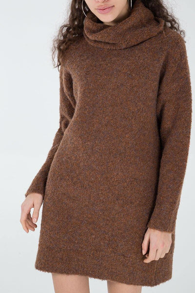 Olivia Jumper Dress- Brown