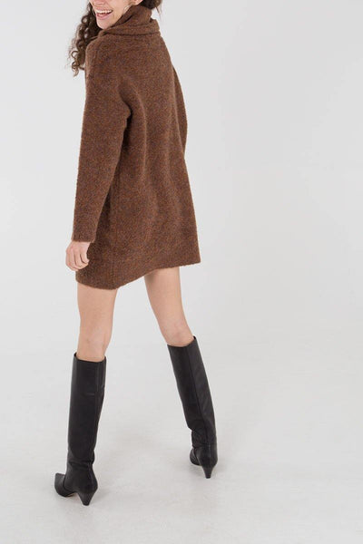 Olivia Jumper Dress- Brown - House of Angelica