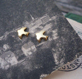 Tiny Gold Plated Bird Studs