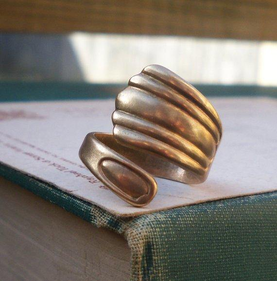 Brass Spoon Ring (Adjustable)