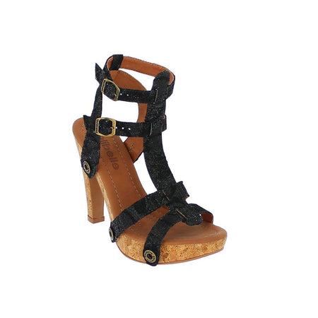 Suede Slide-On Sandals - Black