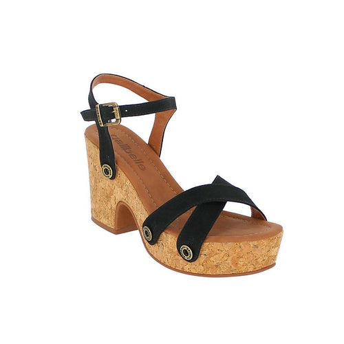 Galibelle - STRAPS - DA13 - Black Genuine Leather Cross-Over Toe