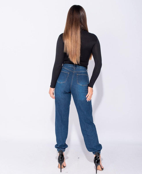 Anthea High Waisted Denim Joggers