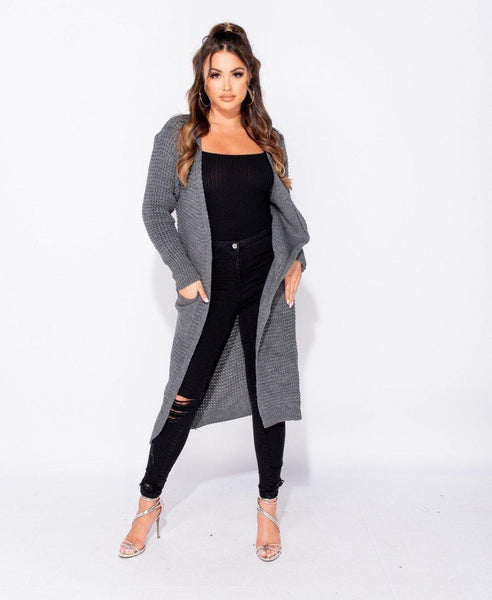 Evolette Knit Cardigan - Grey