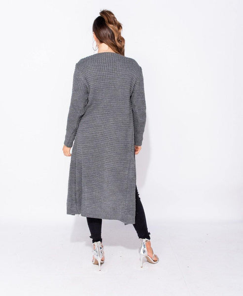 Evolette Knit Cardigan - Grey - House of Angelica
