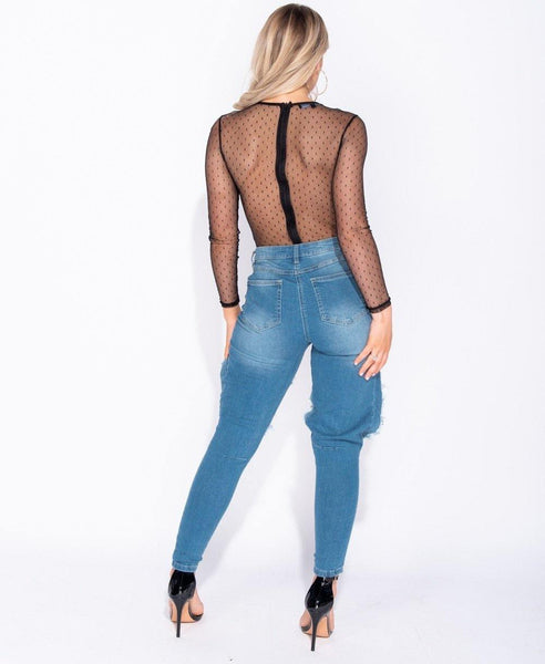 Tazanna Lace Bodysuit - House of Angelica
