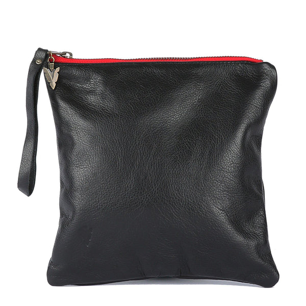Leo Leather Clutch