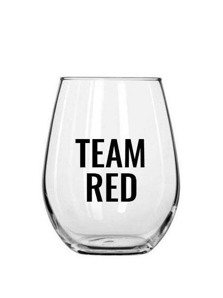 Team Red Wine Glass - Plastic