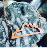 Necklace - Mountains - Rose Gold