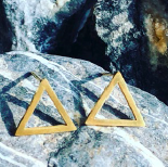 Earring - Triangle - Gold