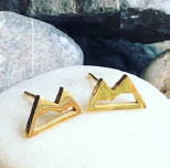 Earring - Mountains - Gold