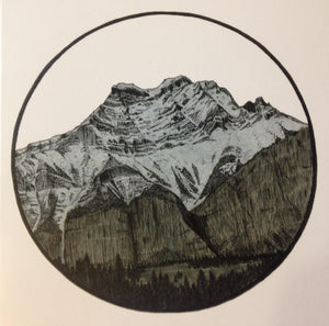 Greeting Card - Cascade Mountain, Banff 018