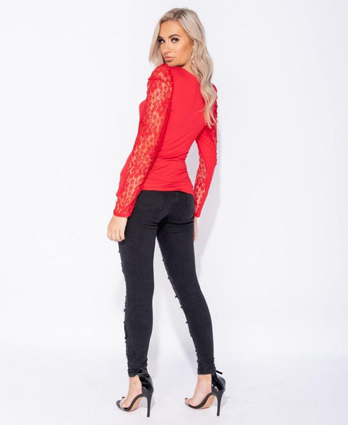 Tegan Long Sleeve - Red