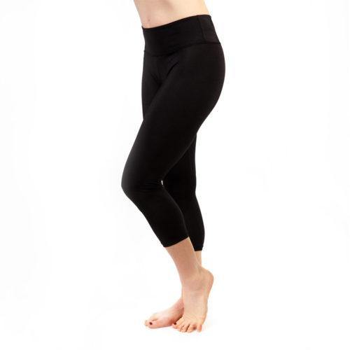 Kim Cropped Leggings - Black