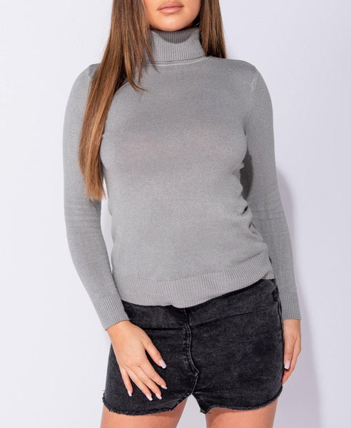 Camber Turtle Neck - Grey - House of Angelica