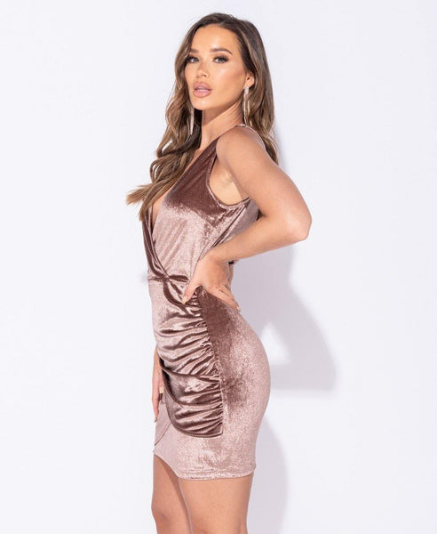 Josephine Velvet Mini Dress - House of Angelica