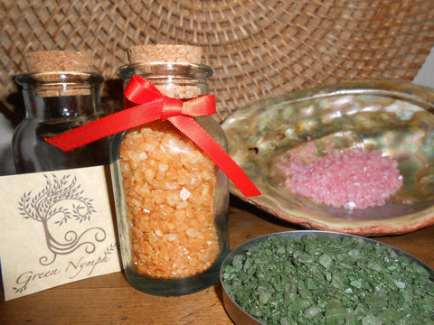 Bath Salts - The EARTH SPIRIT Collection - Pure and Natural - Four Ounces - CynCraft