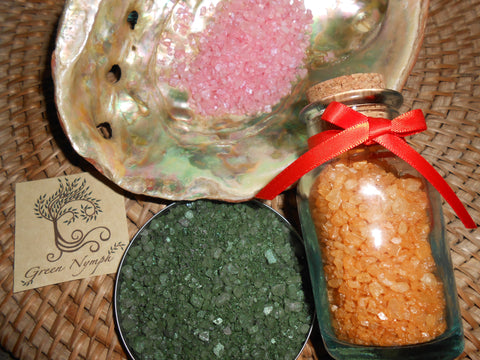 Bath Salts - The OLD WORLD Collection - Pure and Natural - Four Ounces - CynCraft