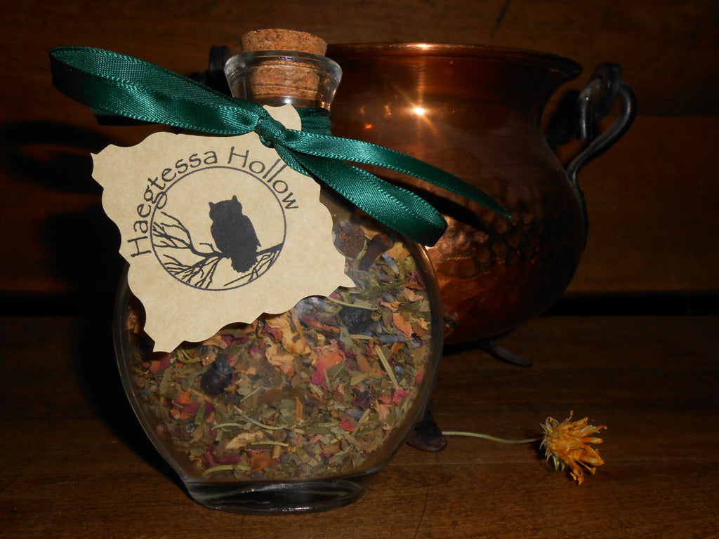 Witch Bottle Spell Jar -- WEALTH and ABUNDANCE - CynCraft