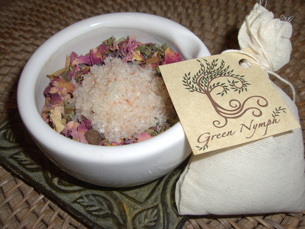 Bath Tea - The BOTANICAL BATH Collection - Spa Soak - Bath Salts, Herbs, Oils - All-Natural - CynCraft