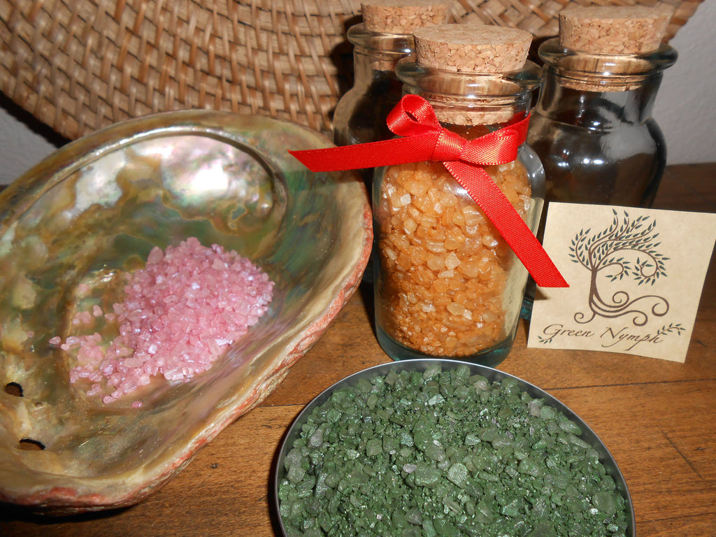 Bath Salts - The FRESH COLLECTION - Pure and Natural - Four Ounces - CynCraft