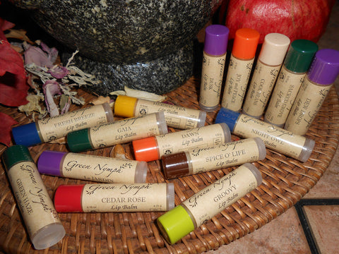 Lip Balm - EARTH MOTHER Collection - 15 Natural, Kissable, Deliciously Fresh Recipes - CynCraft