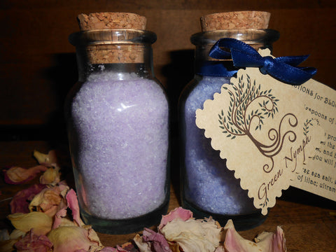 Bath Salts - The GARDEN COLLECTION - Pure and Natural - Four Ounces - CynCraft