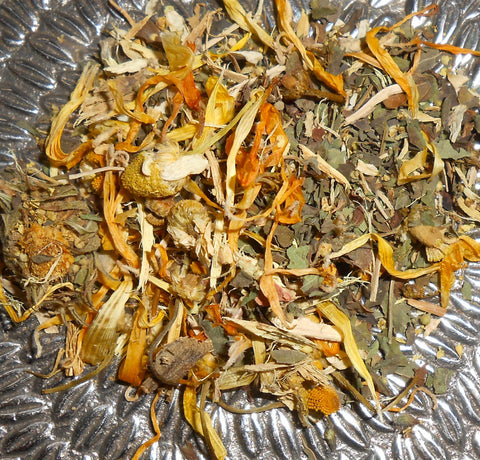 MELLOW YELLOW Herbal Tonic Tea, Organic - Artisan Specialtea Blend - CynCraft